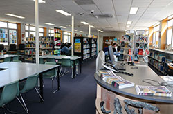 Students using the McDonald Senior Library 1